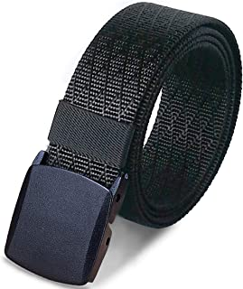 WYuZe Men's Military Tactical Web Belt, Casual Nylon Webbing with No Metal Buckle