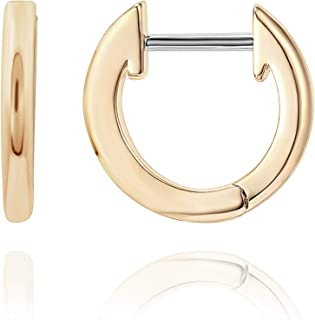 PAVOI 14K Gold Plated Cuff Earrings Huggie Stud | Small Hoop Earrings for Women