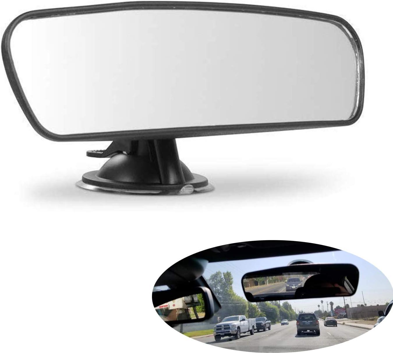 Car Rear View Mirror Universal Auto Truck Interior Mirror (Plain Mirror, Width 21.5cm/8.5in)