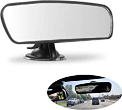 PME Rear View Mirror, Universal Car Truck Mirror Interior Rear View Mirror Suction Cup Rearview Mirror… (Plain Mirror, Width 21.5cm/8.5in)