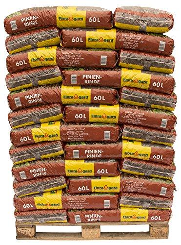 Floragard Mulch Pinienrinde 15-25 mm 39 x 60 L auf Palette, mittlere Struktur