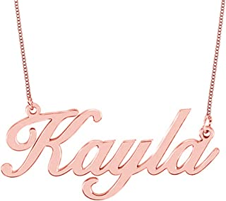 Best rose gold personalized necklace Reviews