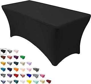 """رومیزی صندلی شما - رومیزی کشش اسپندکس برای میزهای مستطیل شکل 6 فوت ، 72 """"طول x 30"""" عرض عرض 30 """"سفره سفره ای ارتفاع از میزهای تاشو استاندارد - سیاه"""