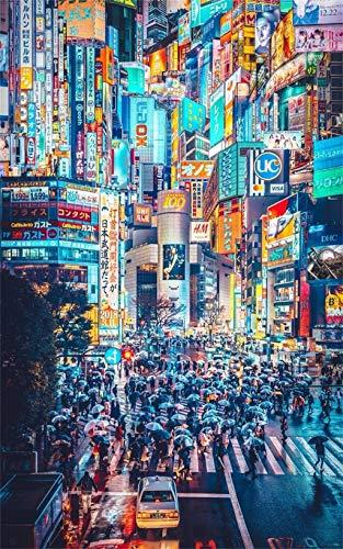 Puzzle de 1000 piezas para adultos Tokio Japón con el temperamento más cyberpunk Juego divertido, desafío imposible, regalo ideal para la familia