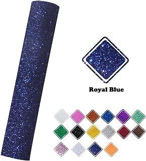 Royal Blue Glitter Heat Transfer Vinyl Iron on Vinyl 9.8