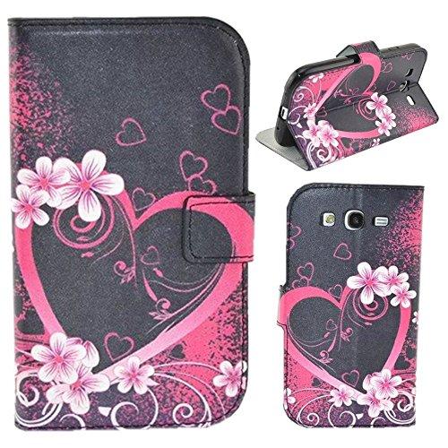 HUANGTAOLI Custodia in Pelle Flip Case Cover per Samsung I9060i Galaxy Grand Neo Plus