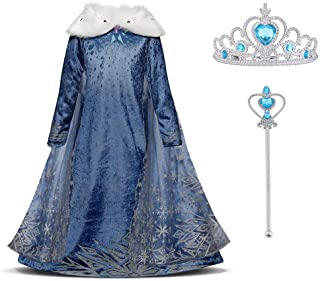 ae9c32cc8 URAQT Vestido Princesa Disfraz Traje Parte Disfraces Las Niñas Vestido,  Cosplay de Disney Disfraz de