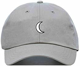 Moon Baseball Hat, Embroidered Dad Cap, Unstructured Soft Cotton, Adjustable Strap Back (Multiple Colors)