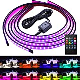Govee Car Underglow Lights, 4 Pcs Led Strip Car Lights, 8 Color Neon Accent Lights Strip, Sync to Music,...