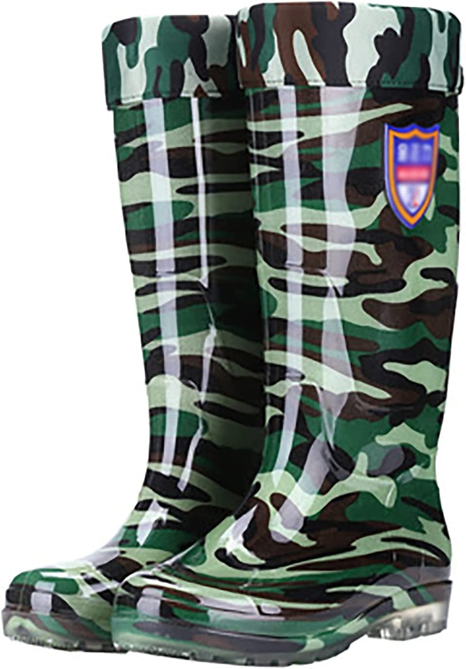 Ranking TOP12 JIAYU Rain Boots Men's Camouflage Middle High quality Warmth Tube