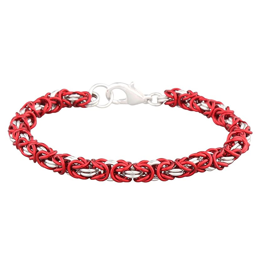 Weave Got Maille Marsala Anodized Bright Aluminum 2 Color Byzantine Chain Maille Kit