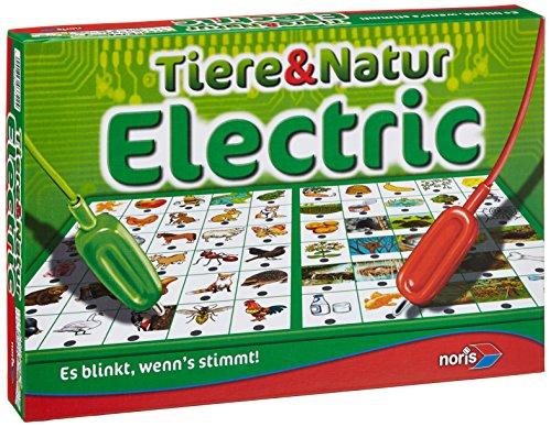 Noris 606013722 Tiere und Natur Electric, Der Lernspiel-Klassiker, Was passt zusammen, Es blinkt, wenn's stimmt, ab 4 Jahren