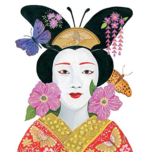 """Paperproducts Design PPD 1252841 Madame Butterfly Beverage/Cocktail Paper Napkins,5""""x5"""", Multicolor"""