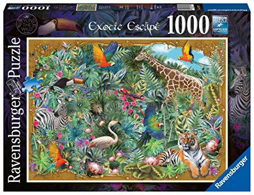 Ravensburger Puzzle 1000 Pezzi, Fuga Esotica, Collezione Fantasy, Puzzle Animali, Jigsaw Puzzle per Adulti, Puzzle Ravensburger, Stampa di Ottima Qualità