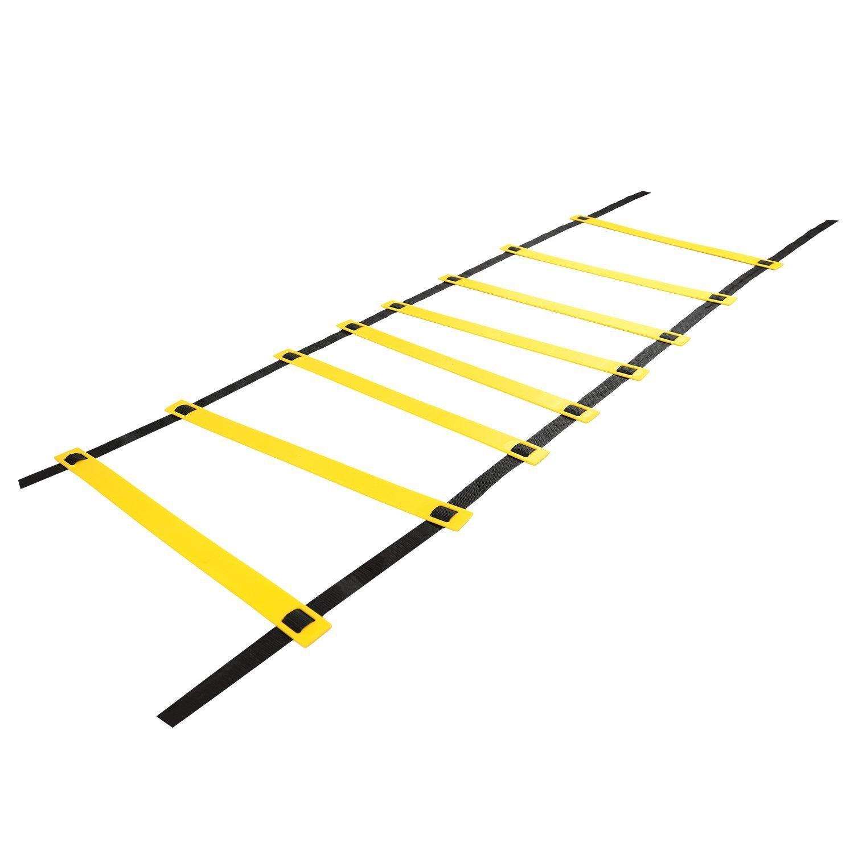 12 De Escalera de coordinación, qmq Mantén la Escalera de coordinación (Deportes de entrenamiento de fútbol Velocidad de escalera escalera Agility Ladder, 6 m de 12 con funda: Amazon.es: Deportes y aire libre