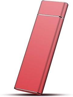 超薄型外付けHDD ポータブルハードディスク 1TB USB3.1に対応 PC/Mac/PS4/XBox適用 (Red,1TB)