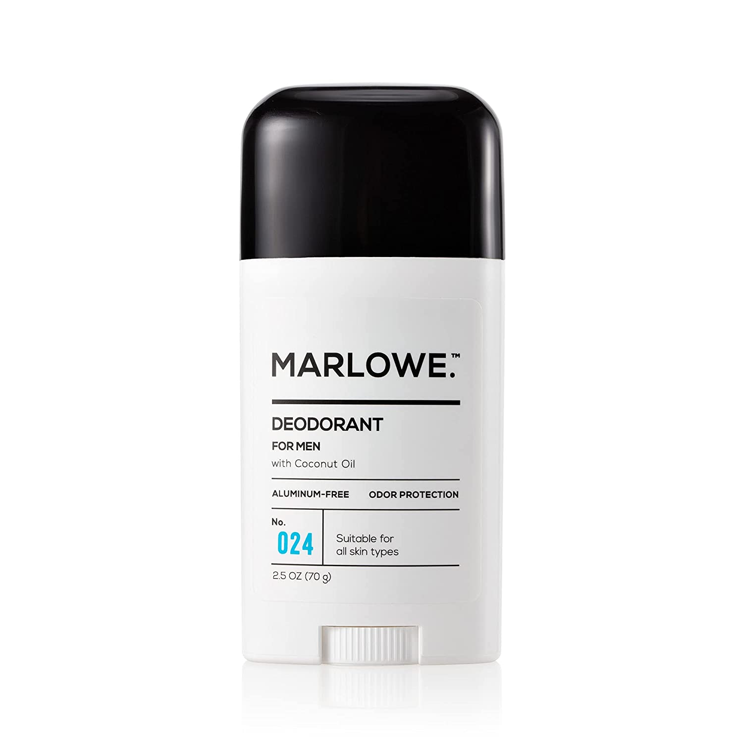MARLOWE. No. 024 Natural Easy-to-use Deodorant Free 2.5oz for Men Aluminum Time sale
