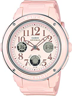 Casio Baby-G Women's Peach Dial Rubber Band Watch - BGA150EF-4B