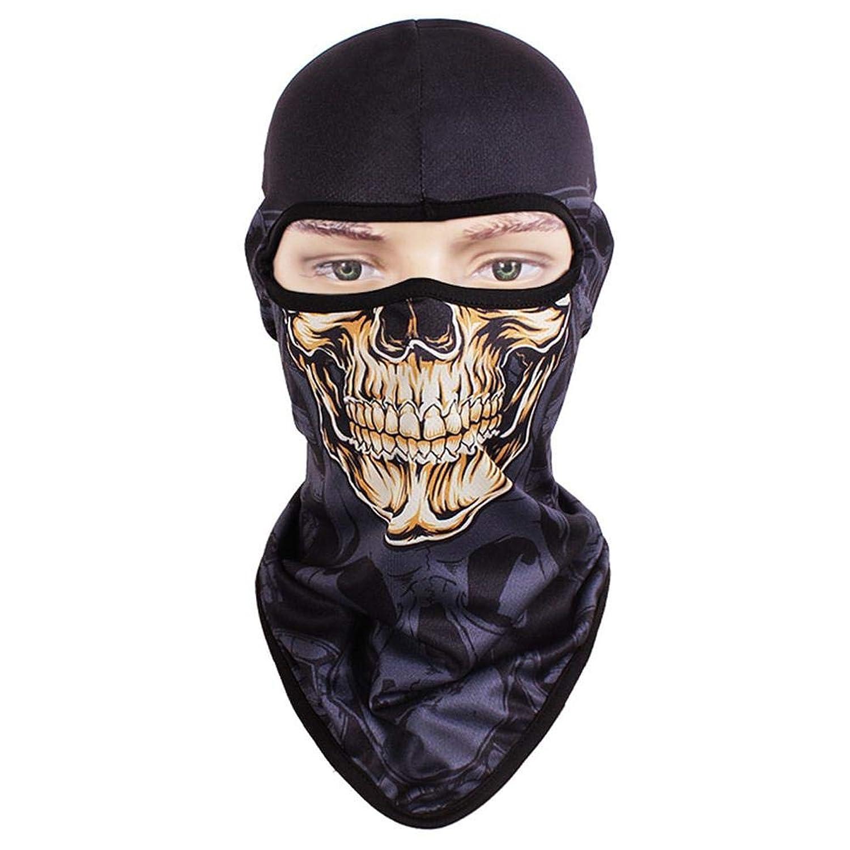 頭蓋骨マスク フルフェイスマスク 自転車マスク スカルキャップ 日焼け止め アウトドア用品 通気性 速乾性
