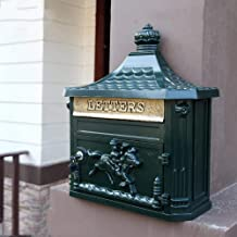 Mailbox Retro Outdoor Wandgemonteerde Postbox Villa Regendicht Waterdicht Creatieve Home Brievenbus (Kleur: Groen)