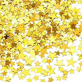 60 g Star Confetti Glitter Star Table Confetti Metallic Foil Stars for Party Wedding Festival Decorations  Gold 10mm and 6mm