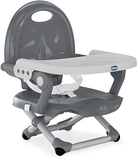 Chicco Pocket Snack Rehausseur Chaise Bébé pour Enfants de 6 mois à 3 ans (15 kg), Chaise Haute Portable, Réglable, a...