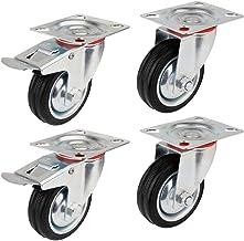 YAOBLUESEA Transportwielen, zwenkwielen, meubelwielen, zware wielen, industriële zwenkwielen, 85 mm/100 mm/125 mm diameter...