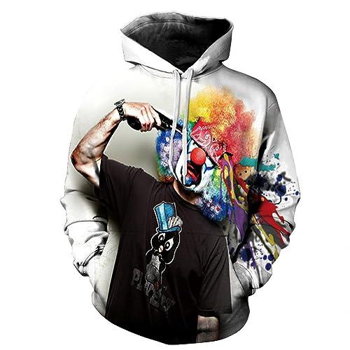 155f81dc7 Honeystore Unisex Casual 3D Printed Sweatshirt Pullover Hoodie