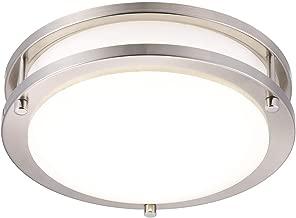 Cloudy Bay LED Motion Sensor Ceiling Light,Time,Distance,Ambience Adjustable,10 inch,120V~270V 15W CRI90 5000K Day Light,for Kitchen,Garage,Hallway,Stairwell,Damp Location Brushed Nickel