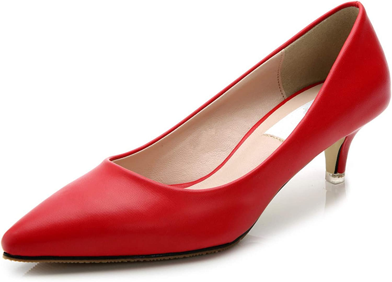 Tellusa Fashion Women Pumps 5cm Sheepskin Women shoes Low Heels Pointed Toe Comfortable Office Heels