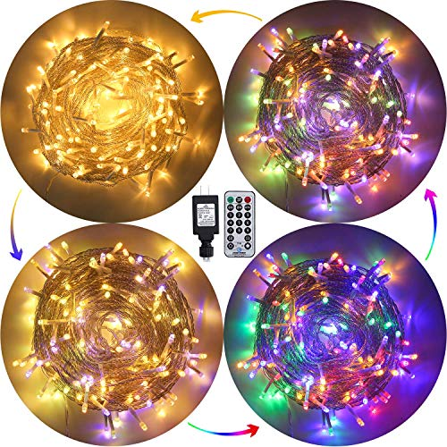 Ollny String Lights Color Changing led Christmas Lights 200 LED 66FT Fairy Lights Plug in String Lights with Remote Timer 11Function Twinkle Lights Connectable for Bedroom Outdoor Indoor Party Decor