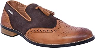 Maplewood Brown Genuine Leather Bolton Shoes For Men