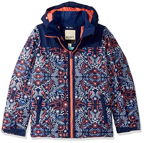 Roxy Snow Big Delski Girl Jacket, Medieval Blue Amparo Flowers, 8/S