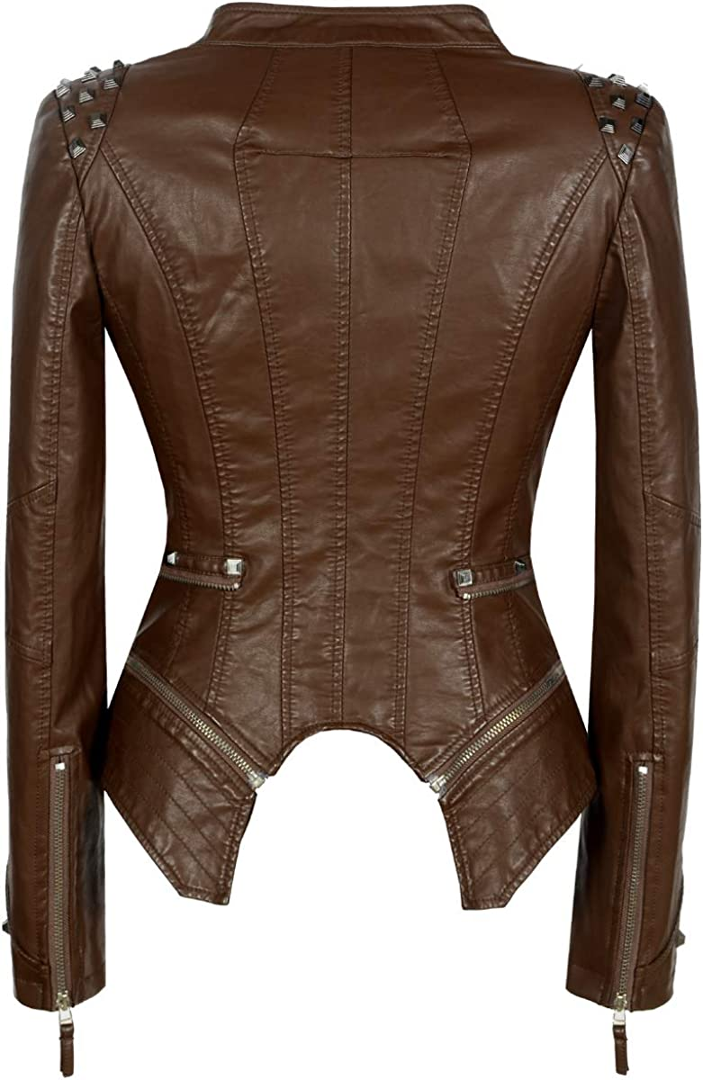SX Leather Jackets for Women - Asymmetrical Ladies Motorcycle Leather Jacket
