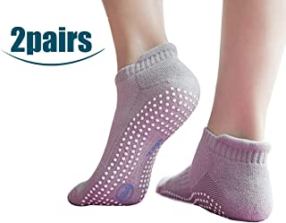 Non Slip Skid Socks with Grips,for Yoga,Barre Pilates,PiYo,Men and Women