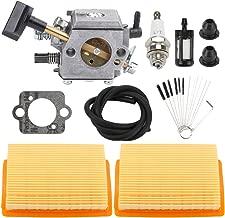 Trustsheer BR320 BR400 BR420 Carburetor w Air Filter Fuel Line Kit for STIHL SR320 SR340 SR380 SR400 SR420 BR340 BR380 Backpack Blower Bush Cutter Replaces 4203-120-0601 Carb