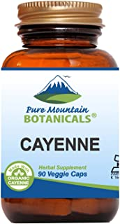 Cayenne Pepper Capsules - 90 Kosher Vegan Caps - Now with 500mg Organic Cayenne Pepper Powder