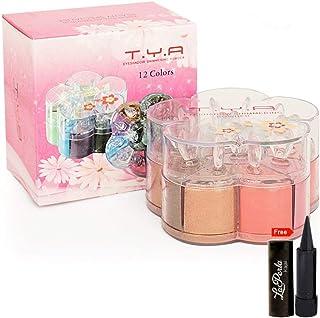 adbeni Tya 12 Colour Eyeshadow Shimmering Powder with Kajal