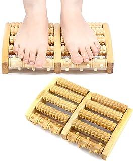 Rullo Massaggio Piedi Legno,Massaggiatore per piedi in legno,Massaggiatore per piedi,Rullo Massaggiatore Doppio per Piede ...