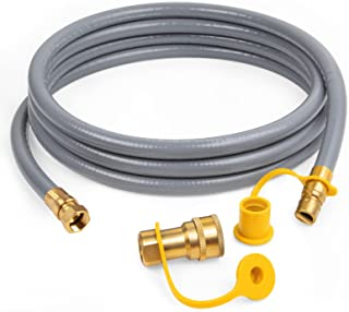 GASPRO 3/8-Inch Natural Gas Quick Connect Hose, Propane to Natural Gas Conversion Kit for Grill, Smoker, Fire Pit, Patio H...