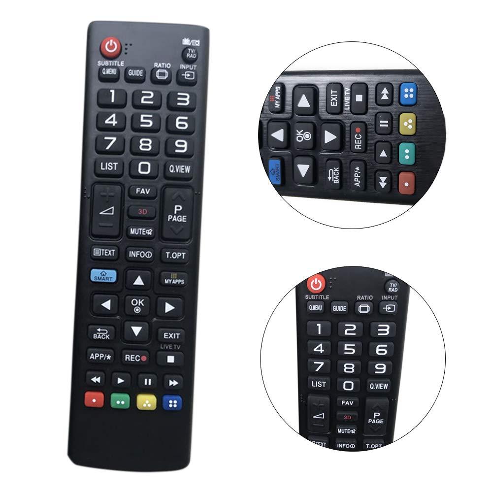QLING - Mando a Distancia para LG TV y LG Smart TV AKB73715601, Negro, Tamaño Libre: Amazon.es: Hogar
