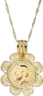 24k Gold Coin Pendant Celebrity Lucky Coin Pendant Necklace