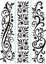 Darice 1217-75 Embossing Folder, Flourishes Design, 3/Pack