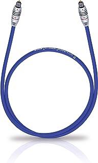 Oehlbach XXL Series 80/50   Optisches Digital Audio Kabel mit Toslink Stecker, Premium Klasse   0,50 m   blau