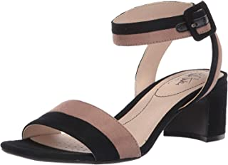 LifeStride Women's Carnival Heeled Sandal, Black/Mushroom, 5.5 M US