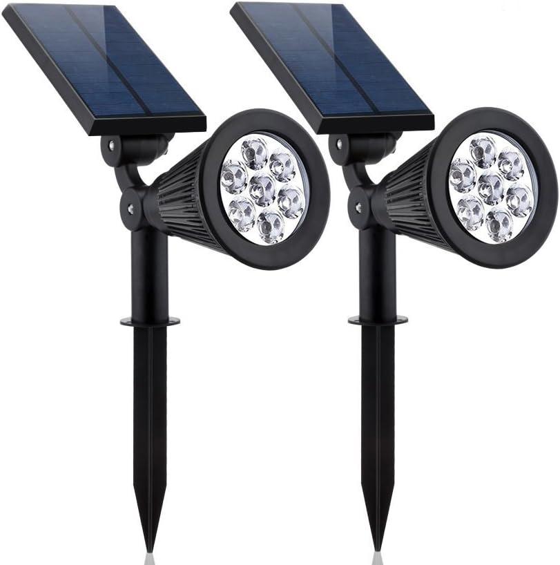 YESDA お買い得 Solar Spotlights 2-Pack Lights Upgraded 新発売 Secu Outdoor