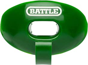 Battle Oxygen Lip Protector Mouthguard with Connected Strap – Football and Sports Mouth Guard – Maximum Oxygen Supply – Mouthpiece Fits with or Without Braces – Impact Shield Covers Lips and Teeth