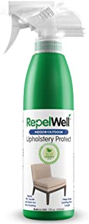 RepelWell Upholstery Protect Stain & Water Repellent Spray (12oz) Eco-Friendly, Pet-Safe Spray Keeps Your Fabric, Leather...