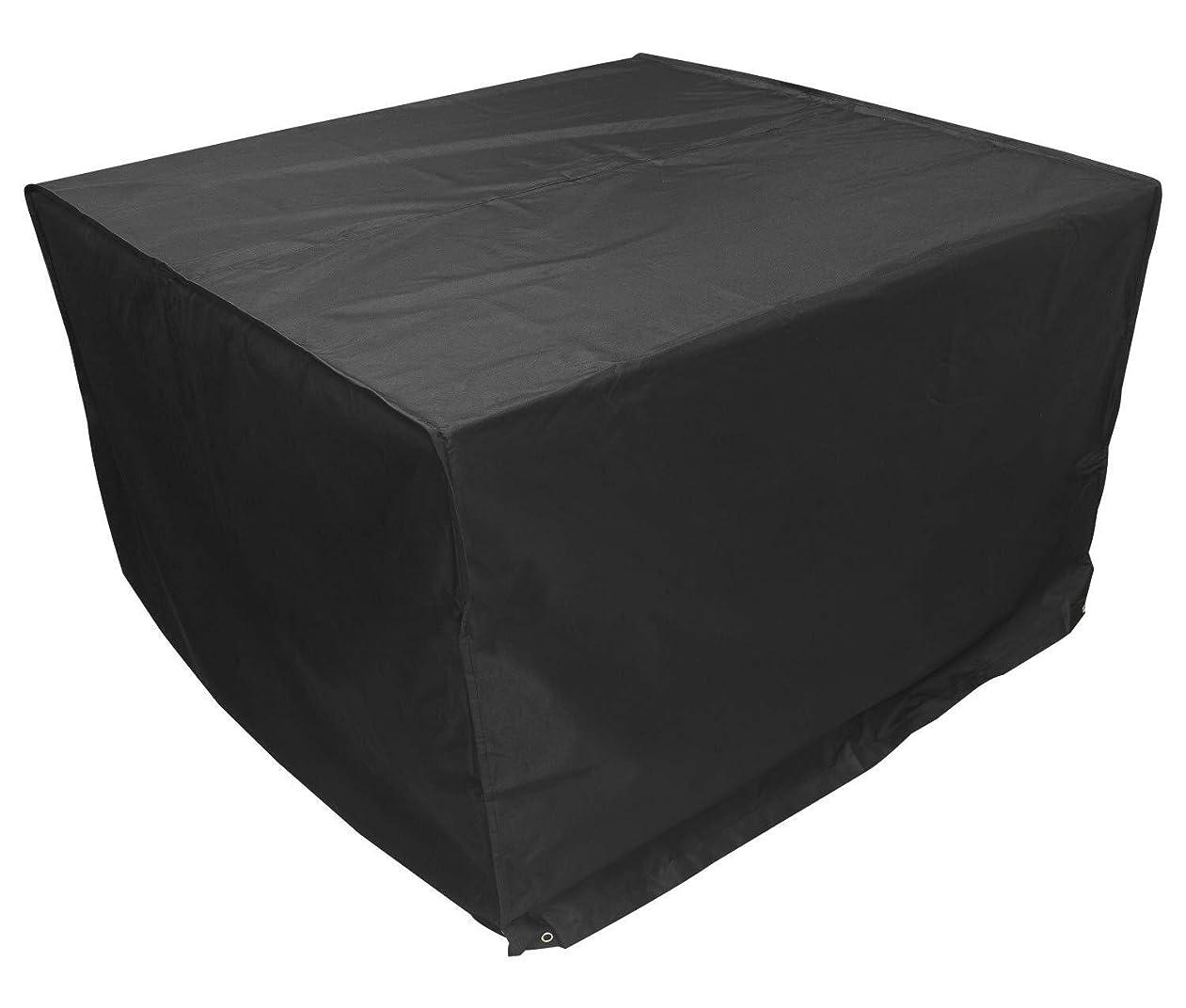 余暇なだめる葉GGYMEI ガーデン屋外カバーテーブル屋内および屋外の庭の家具ダストスクエアオックスフォード布素材と耐久性、32サイズ (Color : Black, Size : 180x120x120cm)