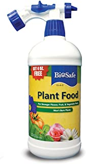 BioSafe Plant Food 10-4-3 Concentrate - 36 oz - Ready to Spray with Hose-end Sprayer - All Purpose Fertilizing from Essential Oilseed Extract. Natural - Not Synthetic, Fish or Seaweed.